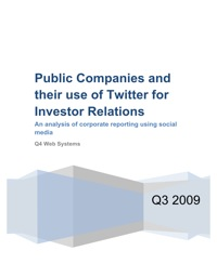 Twitter and Investor Relations Research Report