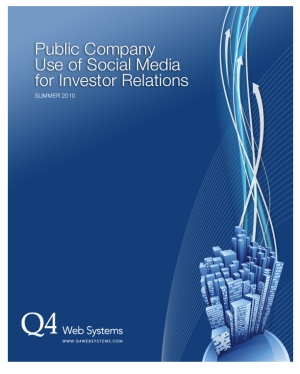 Download the latest Q4 Whitepaper on social media for public companies.