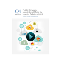 New 2013 Q4 Whitepaper Public Company Use of Social Media for Investor Relations: Part 3 YouTube & SlideShare