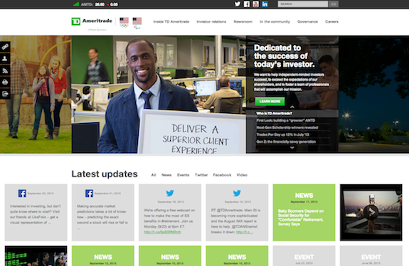 TD Ameritrade's New Website Powered by Q4 Creates Innovative Investor Experience